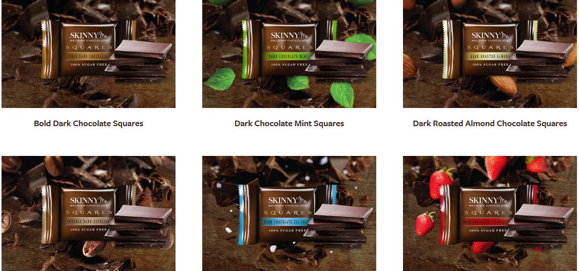 Skinny Me Chocolate, ZERO Sugars, ZERO Guilt !