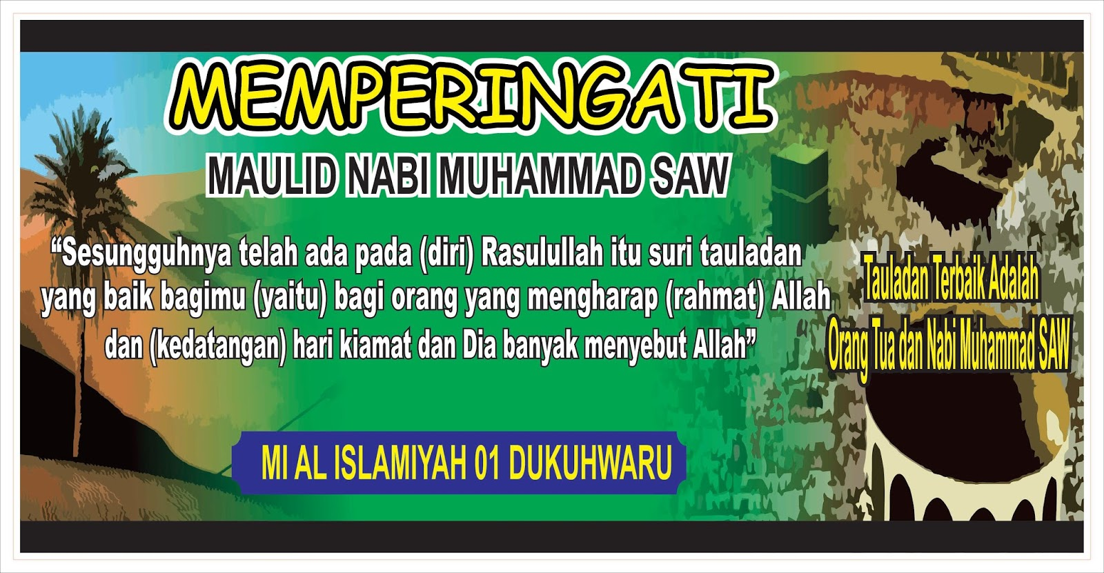 Contoh Desain Banner / Spanduk Maulid Nabi Muhammad SAW ...
