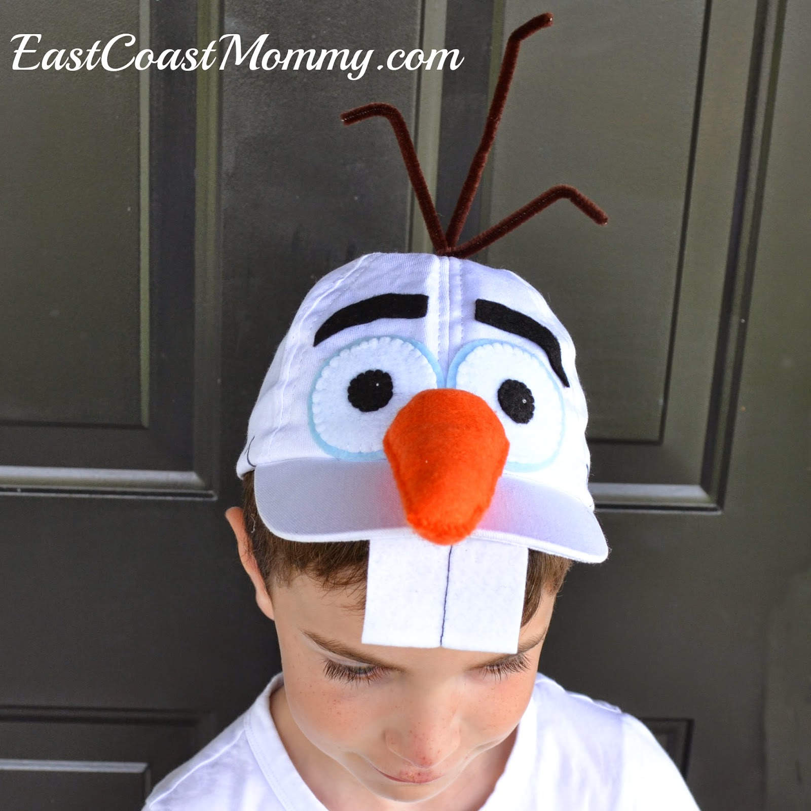 East coast mommy diy olaf costume then i cut all the facial features out of felt you can use the template below as a guide just right click on the picture below save it to your computer solutioingenieria Image collections