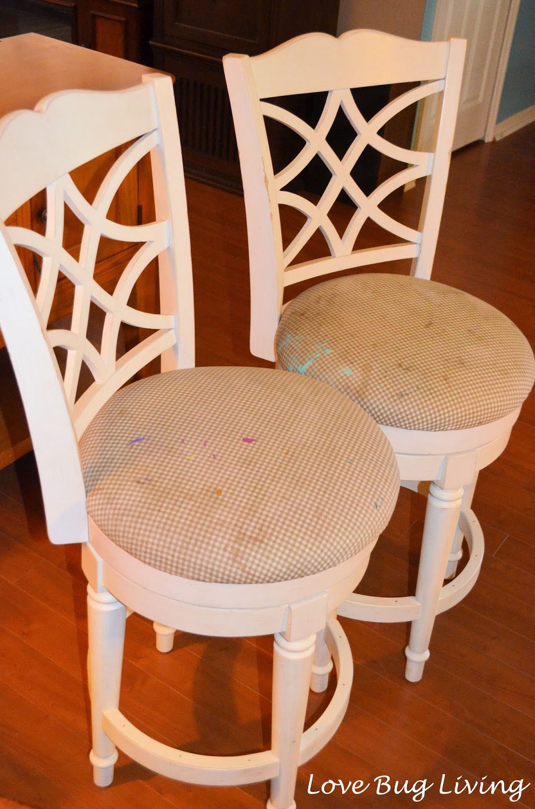 Love Bug Living Goodwill Stools Makeover