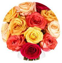Warm Spring seasonal color palette flower bouquet illustration