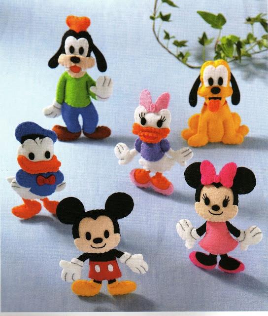 Turma Do Mickey Em Feltro Com Moldes Para Imprimir Decoracoes E