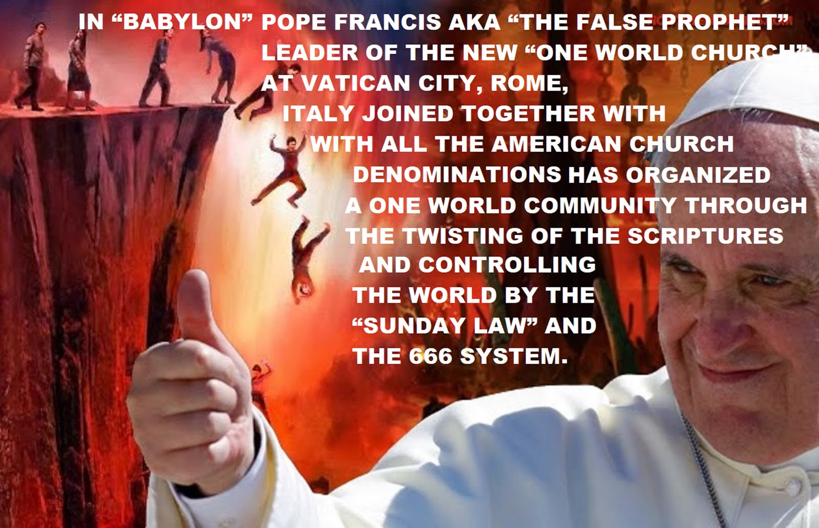 "POPE FRANCIS AND ""THE SUNDAY LAW"""