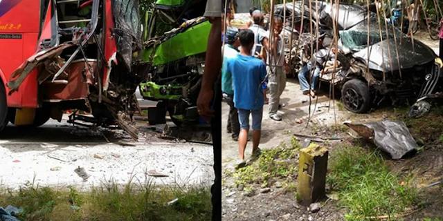 Fuso Hilang Kendali, Tabrak Innova hingga Terpental di Halaman Warga di Jalan Yos Sudarso Pekanbaru