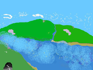 This is a drawing of a highland glen as I imagined with no Glen specifically in mind.