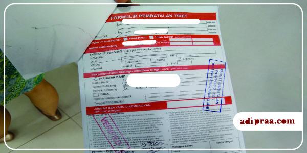 Formulir Pembatalan Tiket | adipraa.com