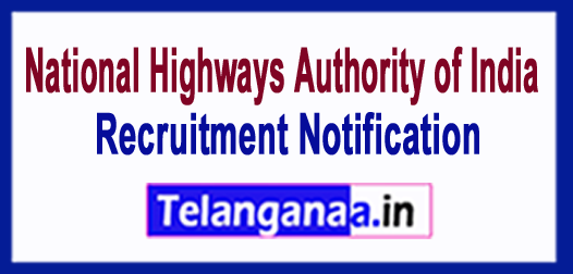 National Highways Authority of India NHAI Recruitment Notification