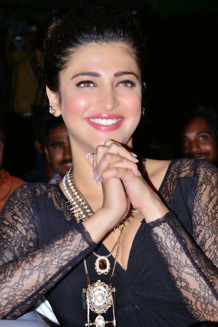 Shruti Haasan Hot image gallery in Black Dress