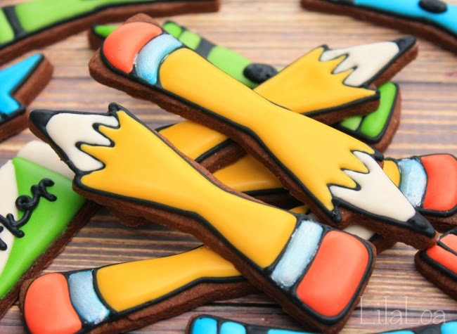 Back To School Decorated Pencil Cookies