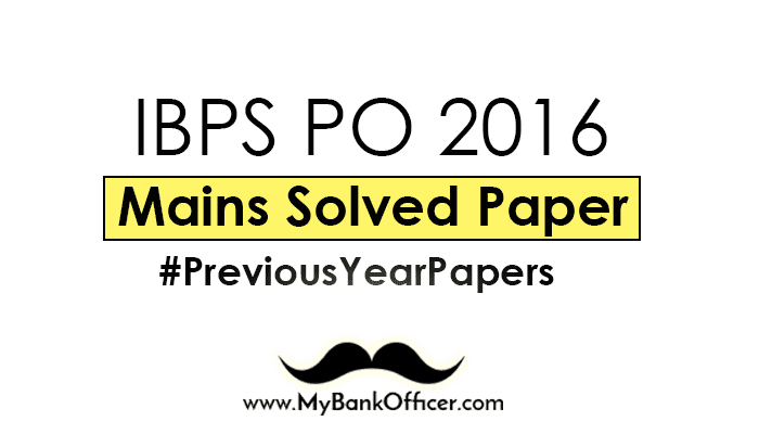 Ibps Exam Paper With Solution Pdf