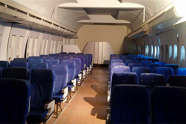salon de clases tipo avion