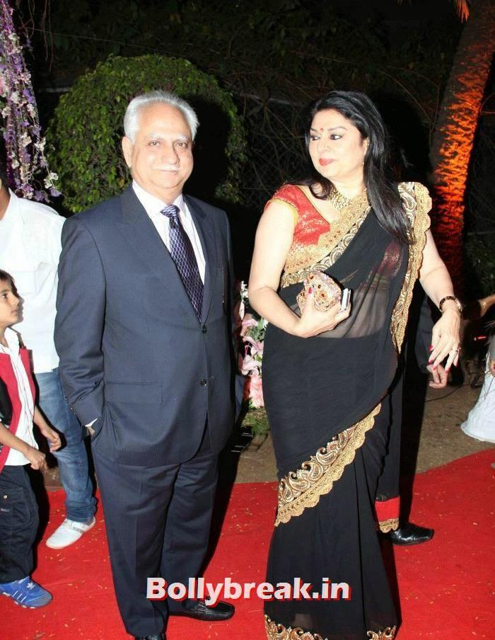 Ramesh Sippy, Kiran Juneja, Ahana Deol Wedding & Reception Pics
