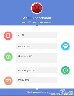 Xiaomi Mi 5S Surfaces in AnTuTu Listing