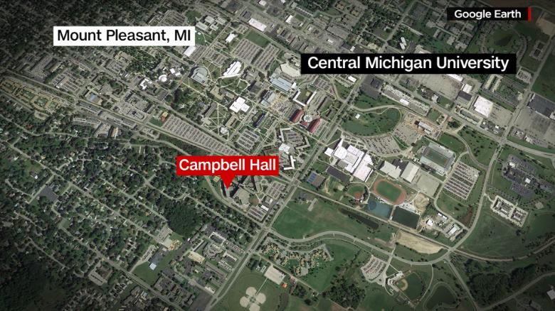 At least 2 dead, gunman at large after shooting at Central Michigan University