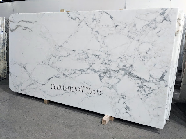 Calacatta Monet White Marble Slabs NYC
