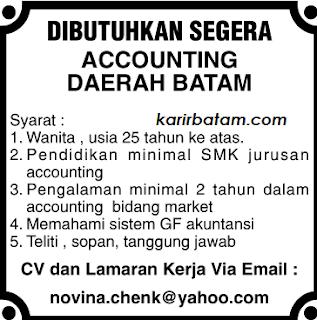 Lowongan Kerja Accounting Batam