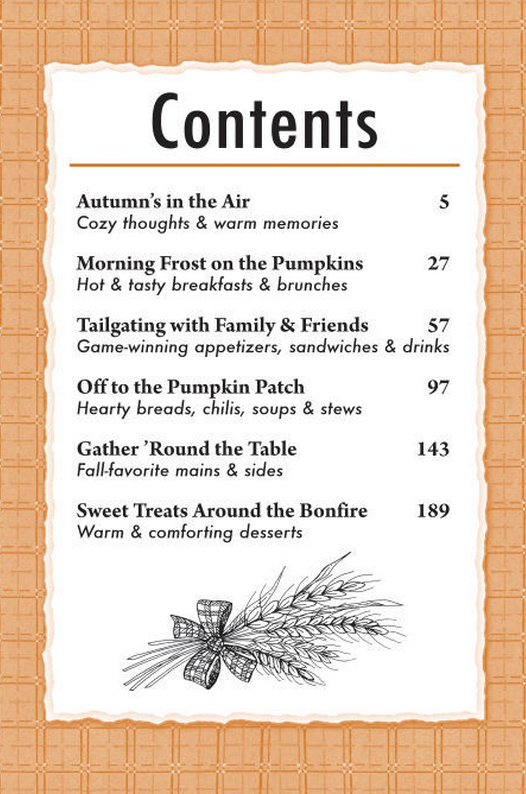 A well seasoned life september 2014 for Cookbook table of contents template