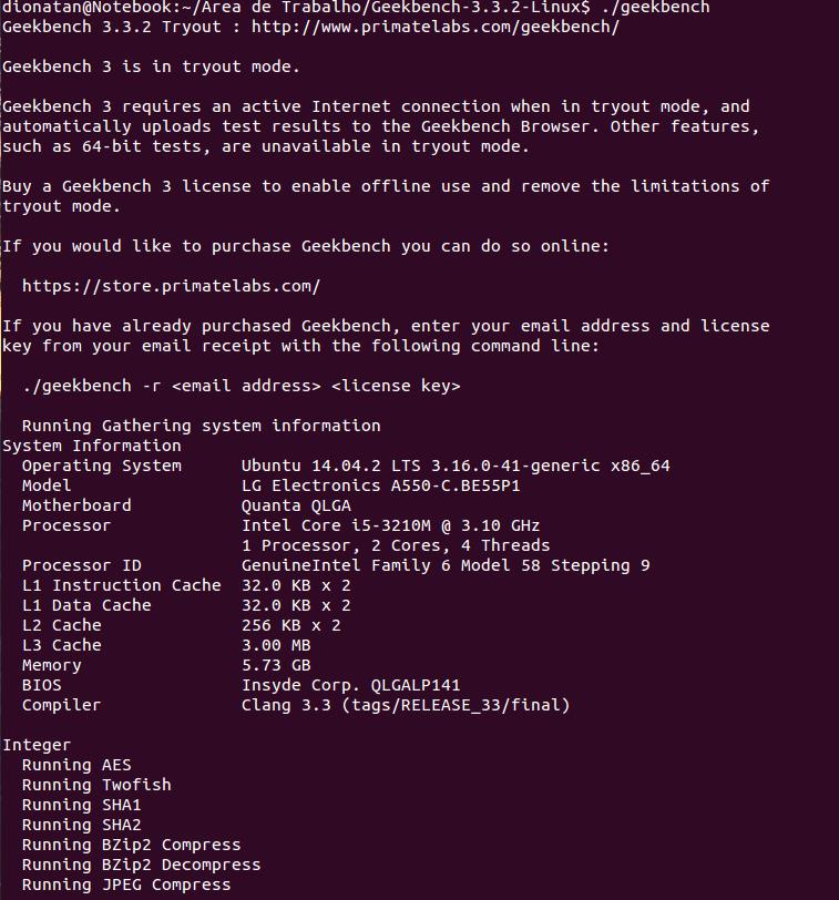 GeekBench: Faça benchmarks de processador e memória no
