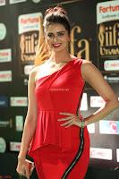 Meenakshi Dixit in Red One Shoulder Red Zipped up gown at IIFA Utsavam Award 73.JPG