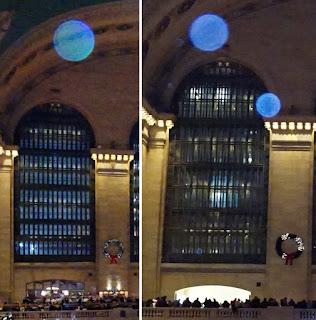 blue orbs in Grand Central