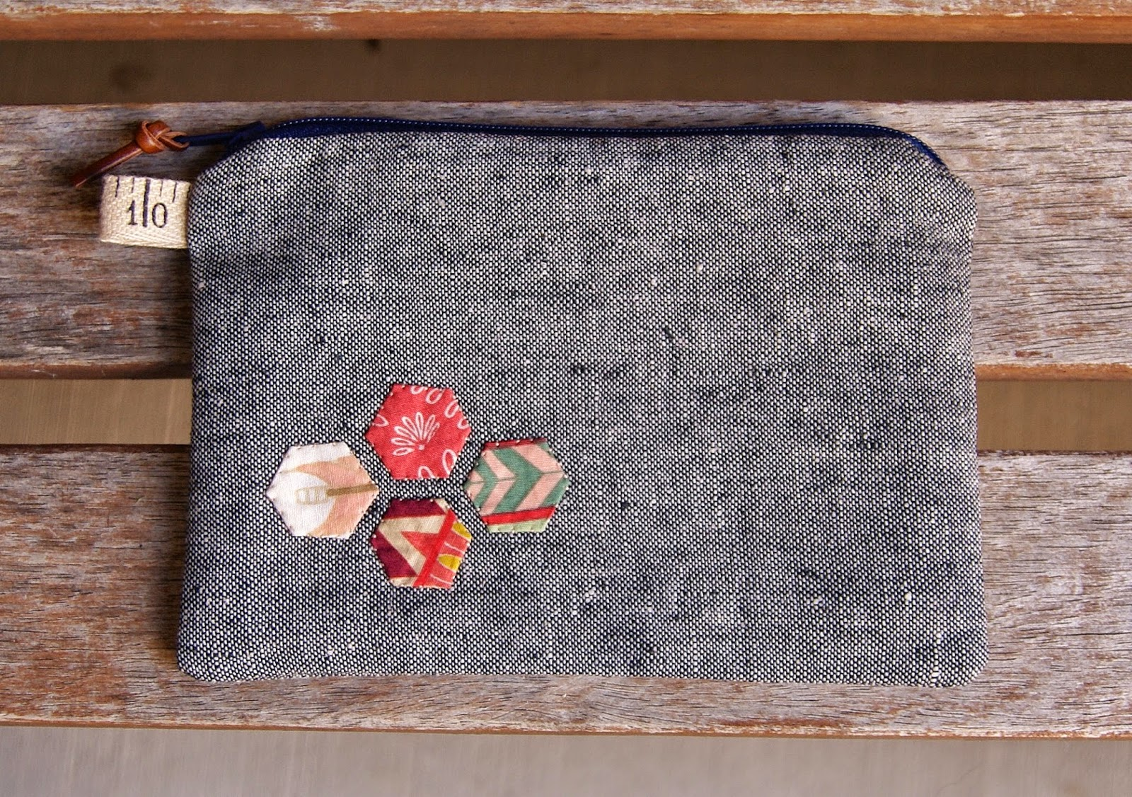 Wild and Free Hexagon Coin Purse by Heidi Staples of Fabric Mutt