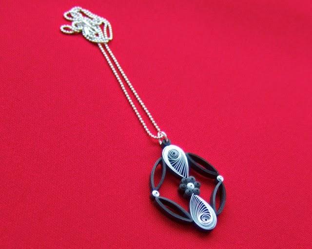 Teardrop Orb Pendant - paper jewelry by Ann Martin