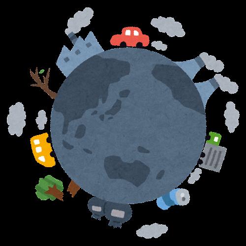 汚い地球のイラスト(環境問題)