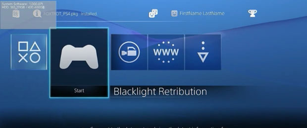 PlayStation 4 User Interface Video