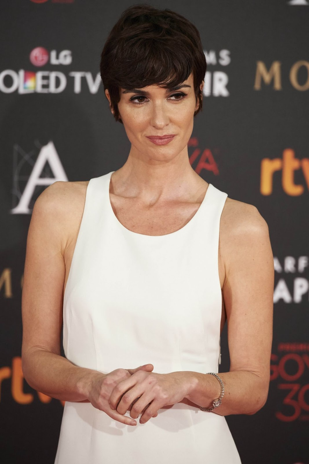 'All Roads Lead to Rome' actress Paz Vega at 30th Annual Goya Film Awards in Madrid