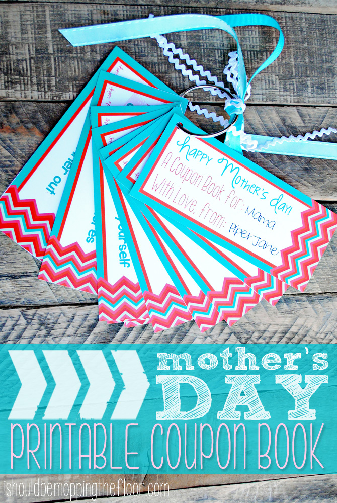i should be mopping the floor: Mother\'s Day Printable Coupon Book