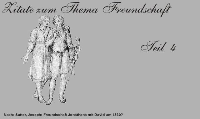 Freundschaft Jonathan und David