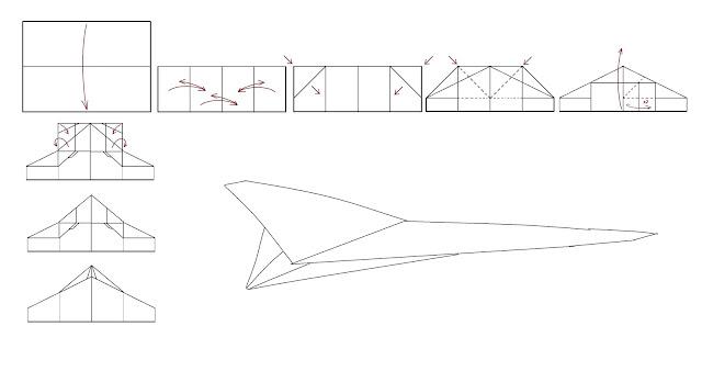 Avión de papel M-76 ArkPlane