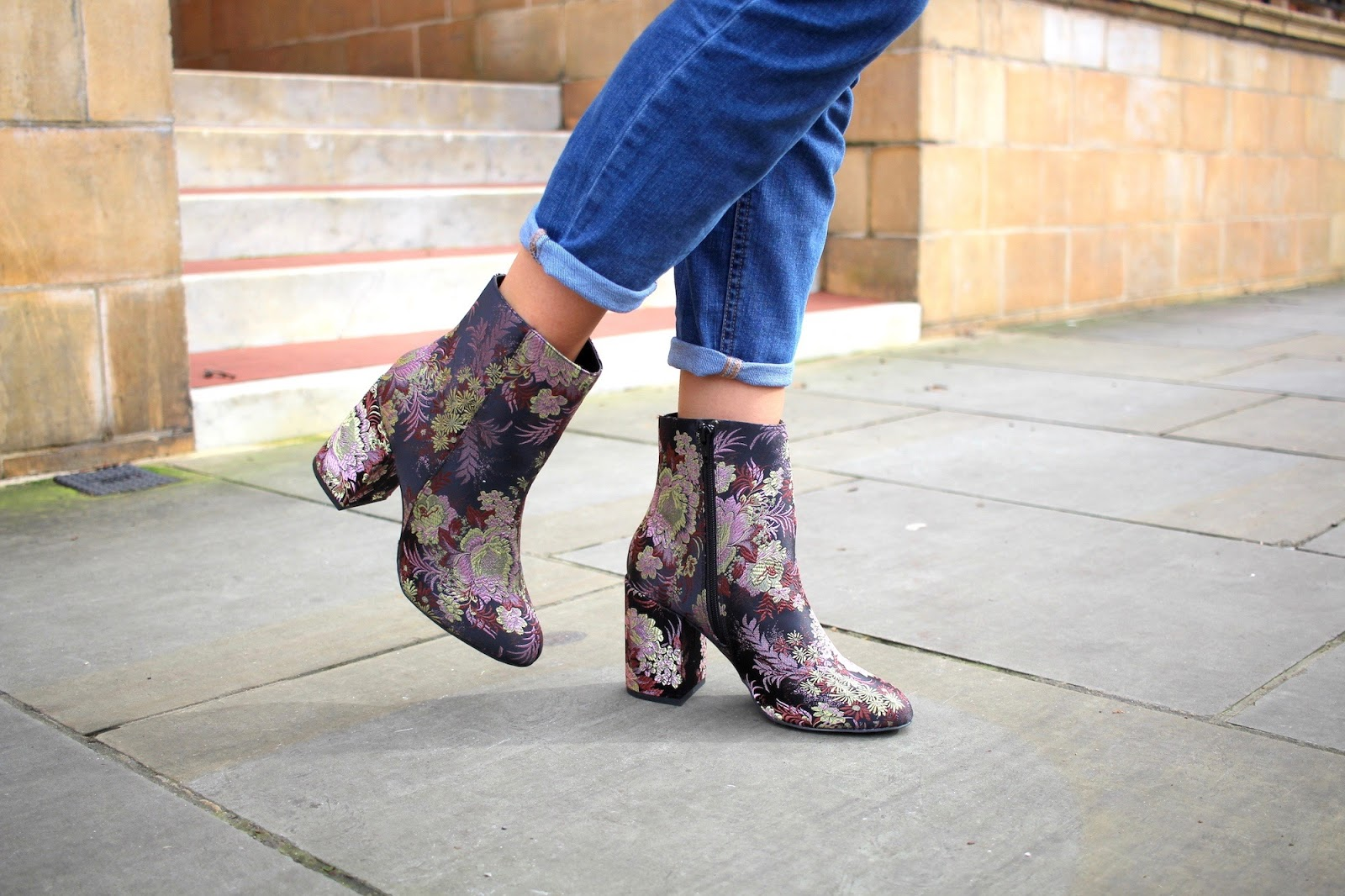 embroidered ankle boots new look