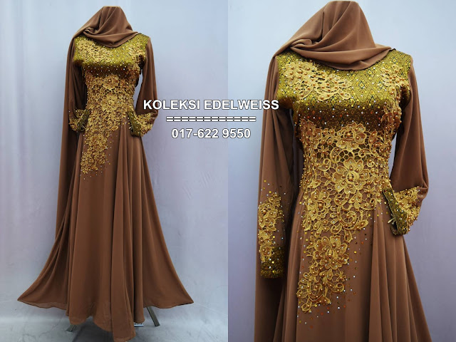 dress songket hitam emas