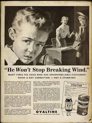 Ovaltine - He won't stop breaking wind