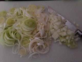 Pastel de pollo y puerros , preparación 3
