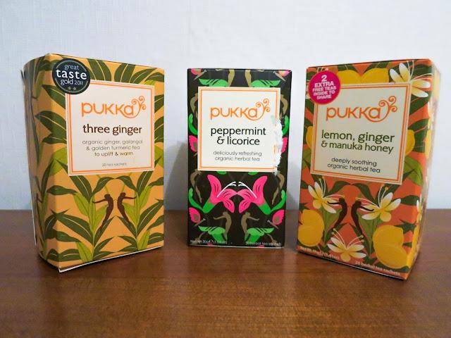 A selection of Pukka Teas