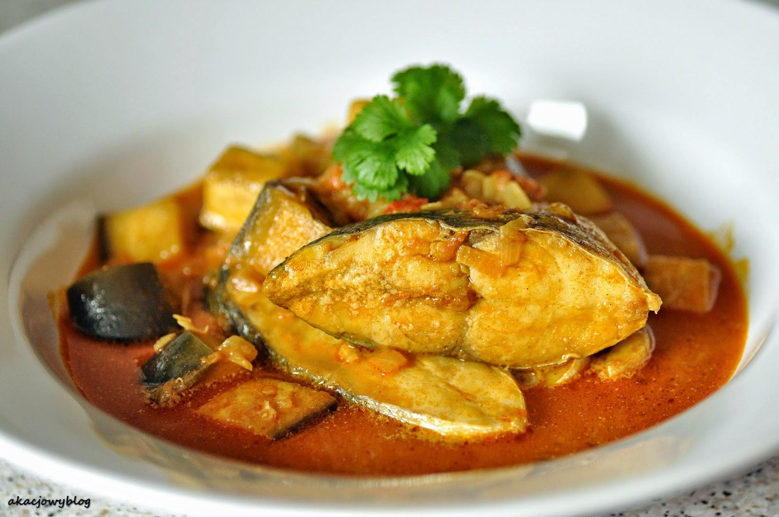 Malezyjskie rybne curry.