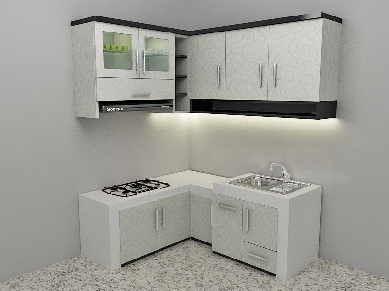 rumah design interior kitchen set minimalis