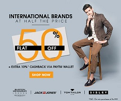 Minimum 50% Off on International Brand Clothing & Footwear @ Jabong