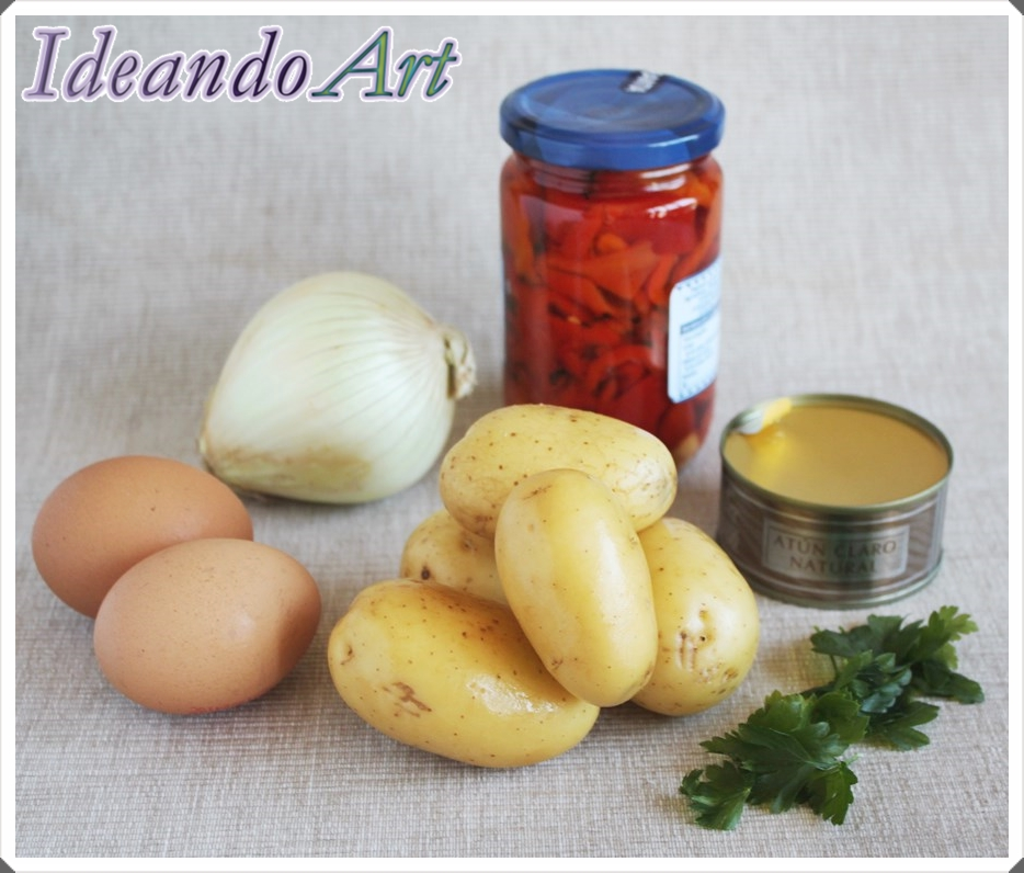 Ingredientes patatas aliñadas