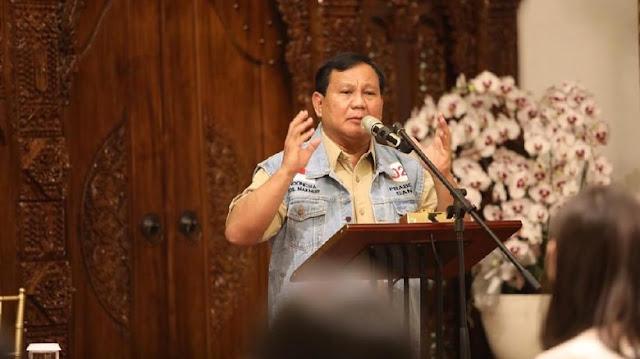Prabowo: Ekonomi Indonesia 'Mbahnya' Liberal Pangkat Lima