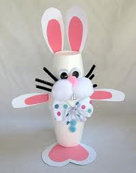 Family Crafts And Recipes Easter Crafts Plastic Cup Easter Bunny
