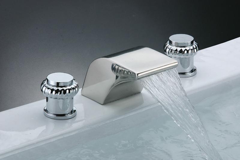 Waterfall-Sink-Bathtub-Faucet-M-6016- Style Waterfall Faucet Modern Bathroom Design on waterfall countertops modern, wall mount bathroom faucet modern, tile bathroom modern,