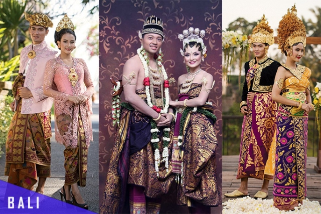 Busana Pengantin Tradisional Adat Bali – Salah satu hal yang menarik dari Bali adalah baju adatnya. Terutama busana adat pernikahan Bali.  Sebut saja busana Payas Agung yang merupakan busana pernikahan khas Bali. Pada zaman dahulu hanya seorang Bangsawan saja yang boleh mengenakan busana Payas Agung ini. Namun seiring berjalannya waktu, semua kalangan boleh mengenakannya, baik kalangan bangsawan maupun rakyat biasa