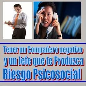 Compañeros negativos y riesgo psicososial