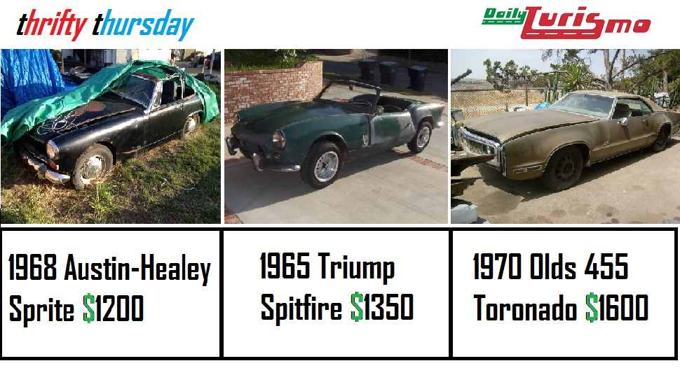 Daily Turismo: 5k: 3 for 5: 1968 AH Sprite, 1965 Spitfire