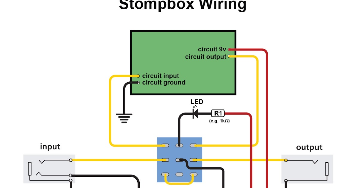 how to wire up a stomp box effects pedal diy strat and other guitar audio projects. Black Bedroom Furniture Sets. Home Design Ideas
