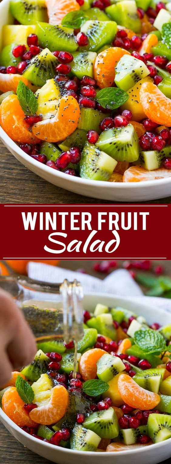 WINTER FRUIT SALAD #winter #fruit #salad #fruitsalad #dinnerrecipes #healthyrecipes #healthydinnerrecipes