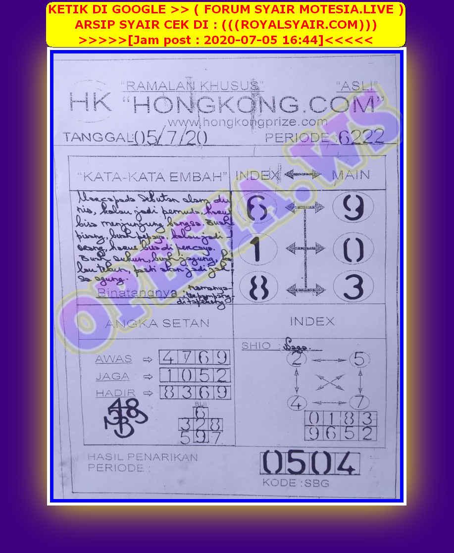 Kode syair Hongkong Minggu 5 Juli 2020 63